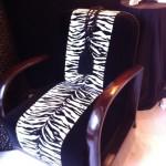 foto poltrona zebrata